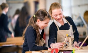 Pupils take part in a design and technology class.