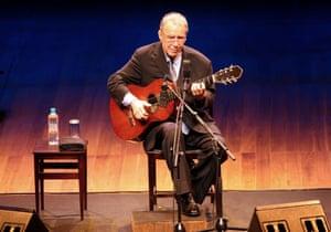 João Gilberto performing in 2008.