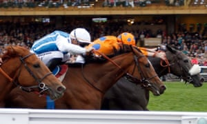 Lily's Candle, right, beats Matematica in the Prix Marcel Boussac.