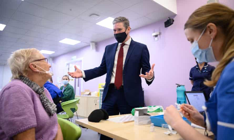 Keir Starmer Visits Stevenage Vaccine Centre
