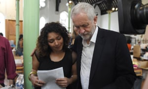 Jeremy Corbyn at a volunteer-run centre providing support for those affected by the Grenfell Tower fire.