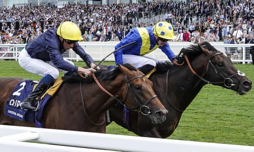 Poet's Word, far side, put up the performance of his career to beat Crystal Ocean in the King George.