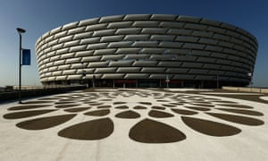 The decision to stage the Europa League final in Baku has drawn criticism from fans and human rights groups.