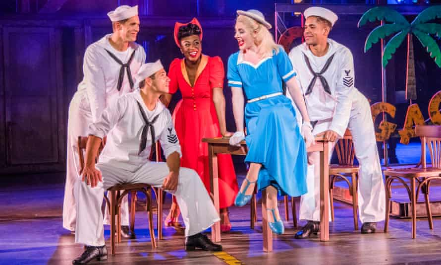 Samuel Edwards, Danny Mac, Miriam-Teak Lee, Lizzy Connolly and Jacob Maynard in On the Town.