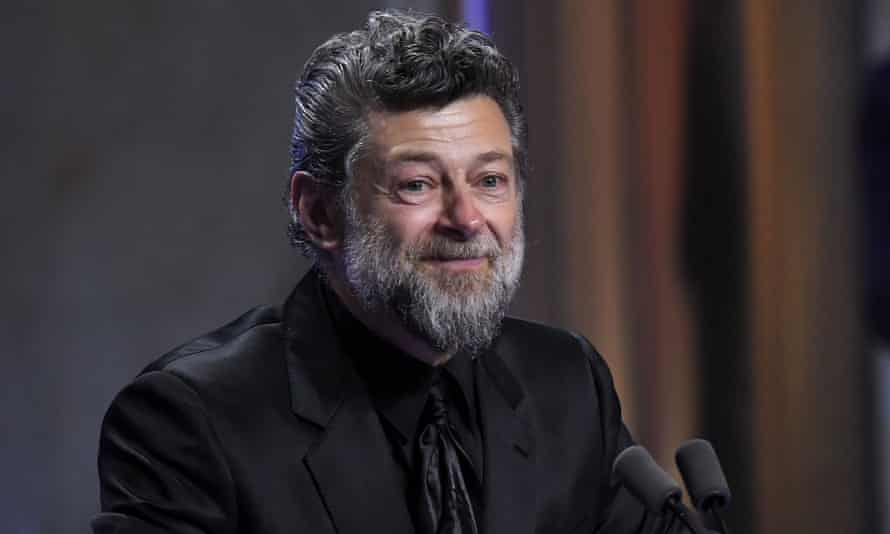 Serkis in February 2020, accepting a Bafta for outstanding contribution to film.