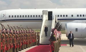 Theresa May arriving n Amman, Jordan, today. New polling reveals that she faces strong voter opposition to some of the compromises she will be under pressure to make during the Brexit talks.