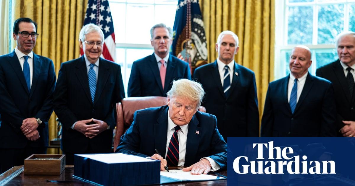 Trump signs $2.2tn coronavirus stimulus package into law