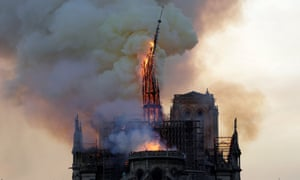 Notre Dame Cathedral in flames, 15 April 2019