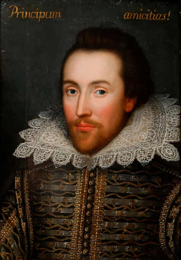 The Cobbe portrait of William Shakespeare, c1610 ... 'The man who wrote the greatest lines about love in all its forms.'