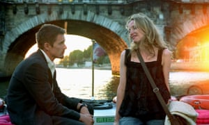 Ethan Hawke and Julie Delpy in Before Sunset (2004).