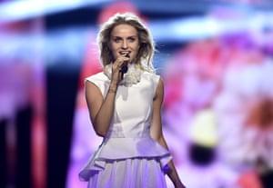 Czech Republic's Gabriela Guncikova performs 'I Stand'