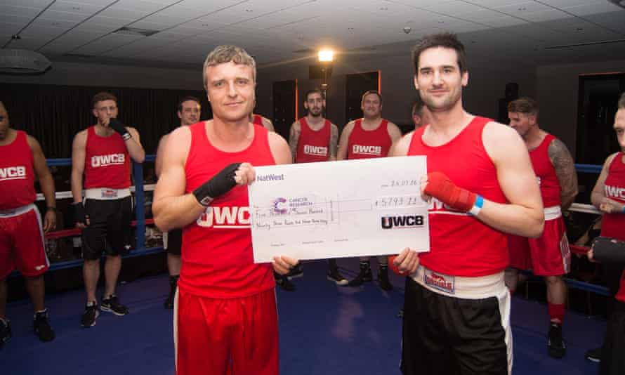 Boxers at a UWCB event in Northampton in March raised nearly £6,000 for Cancer Research.