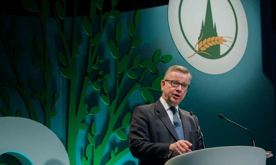 Michael Gove, secretary of state for environment, addressing the Oxford Farming Conference on Thursday 4 January