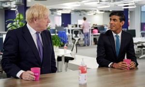 Boris Johnson and Rishi Sunak. The cancellation of the three-year spending review is a blow to the prime minister's ambition to reclaim the economic agenda.