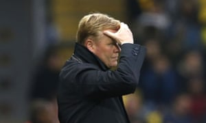Everton's poor form continues with another defeat.
