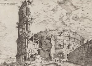 First View of the Roman Colosseum, Destroyed by the Barbarians, 1551, by Hieronymus Cock