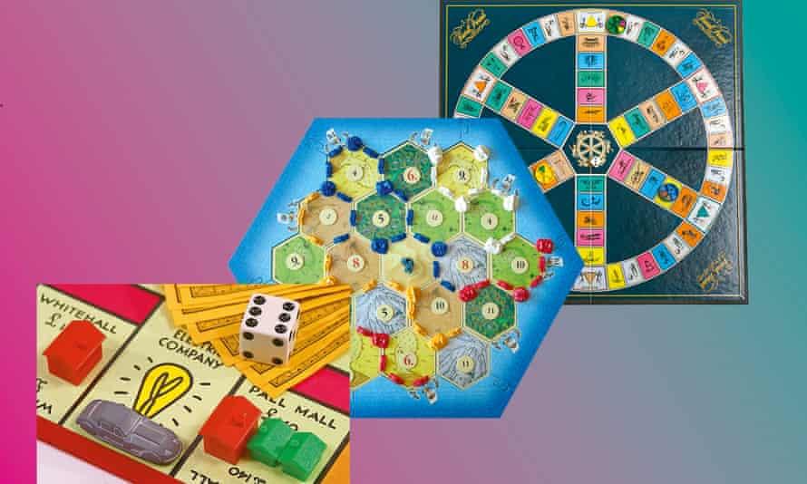 Monopoly; Catan; Trivial Pursuit.