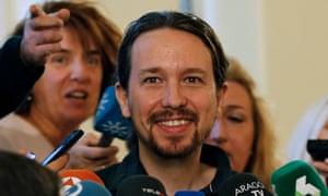 Pablo Iglesias, secretary general for Podemos
