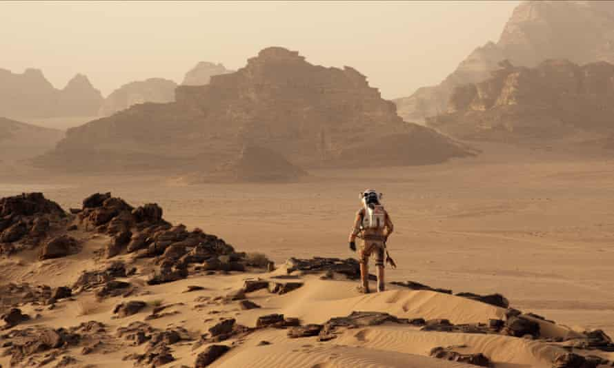 Matt Damon in The Martian … 'colonising Mars, in reality, is going to be quite tricky.' Photograph: Allstar/20th Century Fox