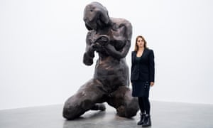 'It was about finding the right form' … Tracey Emin with the model for her giant statue.