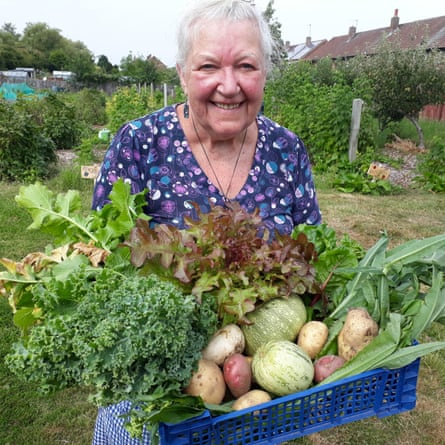 'Residents came to help and shared the harvest with locals in need': Justice Prince community garden, Longbenton, north Tyneside.