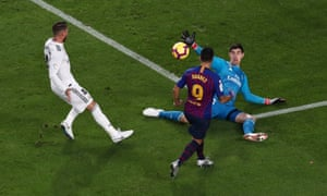 7a72383b108 Luis Suárez hits hat-trick as Barcelona demolish insipid Real Madrid ...