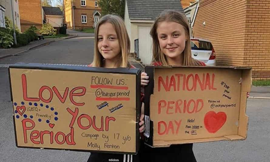 Molly Fenton, right, campaigning with her sister Tilly.