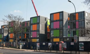 A pop-up village in Lewisham, London that will provide 24 residential units for short-term accommodation to homeless households.