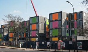 Place Ladywell in south London, a pop-up village of 24 residential units.