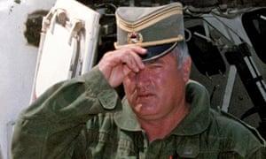 Ratko Mladić in Sarajevo in August 1993