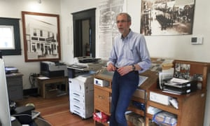 Larry Persily, the publisher of The Skagway News, in the newspaper office in Skagway, Alaska.