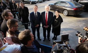 Keir Starmer, Jeremy Corbyn and Shami Chakrabarti