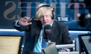 Boris Johnson speaking on the newly-launched Times Radio