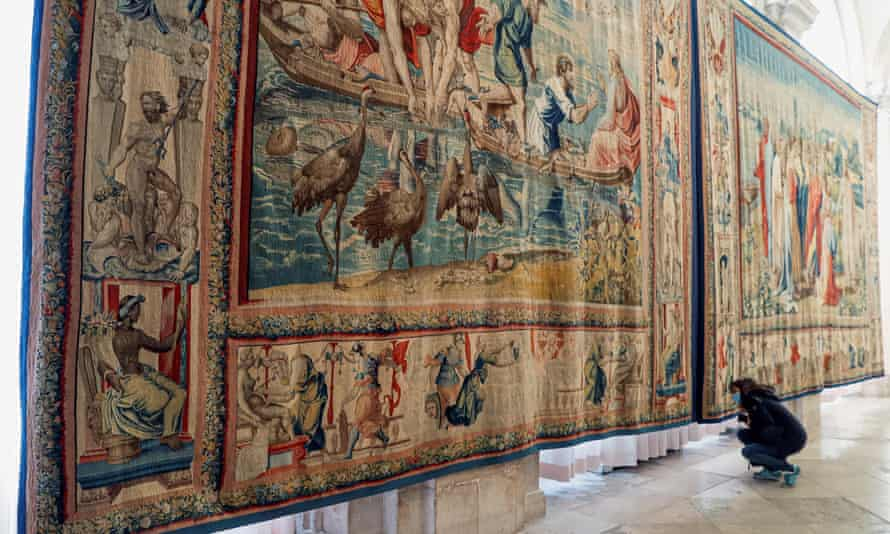 One of the tapestries created for King Philip II of Spain based on sketches by Raphael.