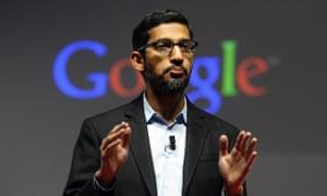 Google's chief executive Sundar Pichai.