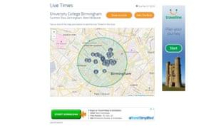 traveline website