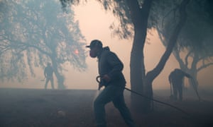 An aggressive wildfire erupted Wednesday morning on the hillsides above Simi Valley, triggering a new round of evacuation in southern California.