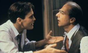 John Malkovich and Dustin Hoffman in 1985's Death of a Salesman.