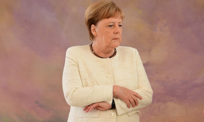 Angela Merkel seen shaking for second time in just over a week