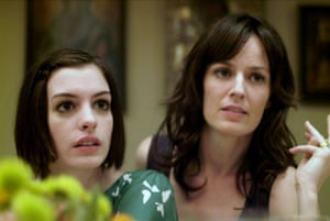 Anne Hathaway & Rosemarie Dewitt as Kym & Rachel in 'Rachel Getting Married' 2008.