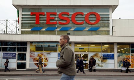 Tesco gained market share for the second month in a row.