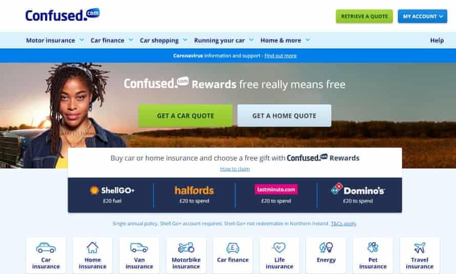 Confused.com screenshot