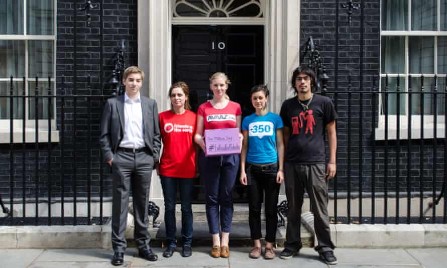 #EndFossilFuelSubsidies London petition delivery.