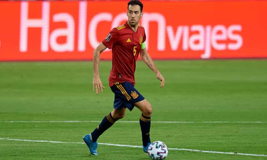 Sergio Busquets was removed from the Spain squad after testing positive for Covid-19 and will miss their opening game against Sweden.