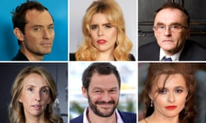 Jude Law, Paloma Faith, Danny Boyle, Helena Bonham-Carter, Dominic West and Sam Taylor-Wood are among the actors and artists advocating Britain remains in the EU