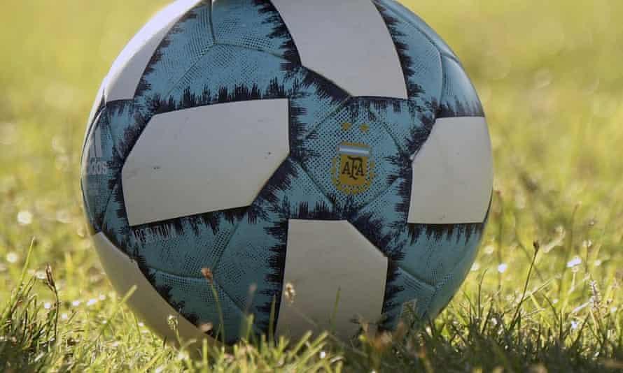 An Argentina Football Association branded football.