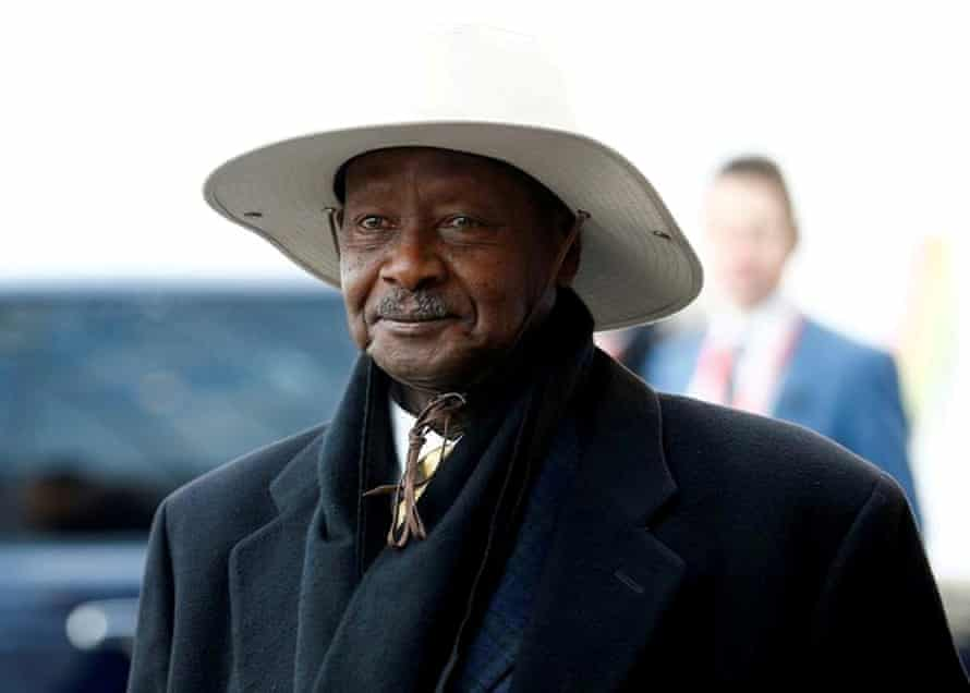 Ugandan president Yoweri Museveni has been in power for 34 years.