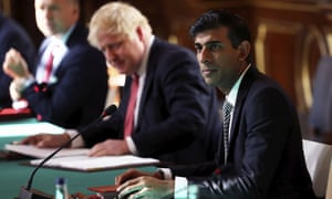 Rishi Sunak and Boris Johnson in a cabinet meeting