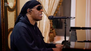 Stevie Wonder performs for One World: Together at Home