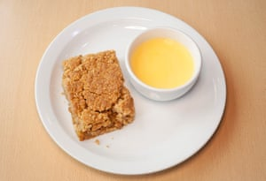 'What's the point without custard?': apple crumble.